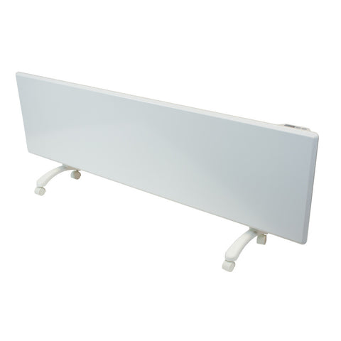 NOBO - 2.4kW 'Oslo' Panel Heater with Castors, Thermostat & Timer - White finish