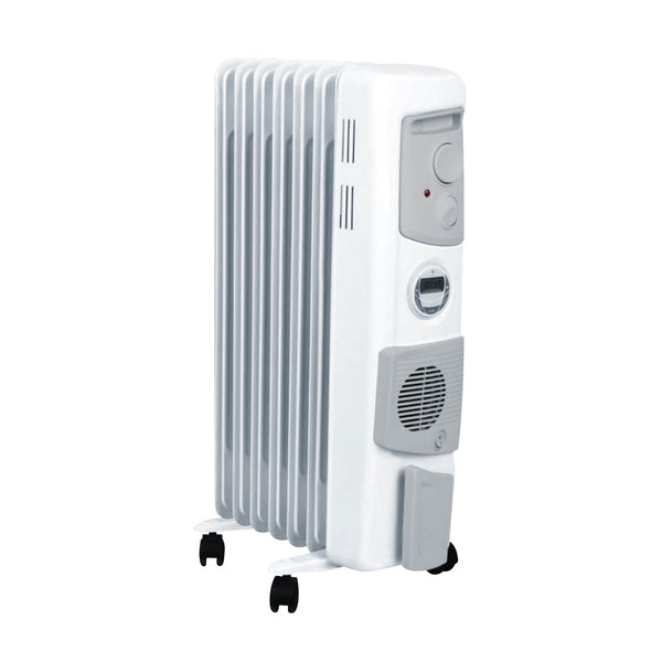 Dimplex 1.5kW Oil Column Heater with Timer & Turbo Fan White Finish