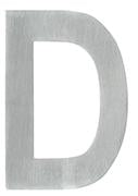 DELF ARCHITECTURAL SS POLISHED ALPHABET 65MM - D