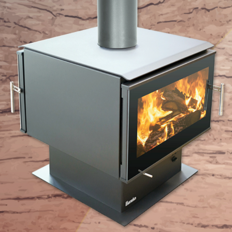 Eureka - Double Sided Jewel Free Standing Wood Heater