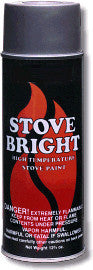 Stove & Heater Paint Metallic Black Aerosol