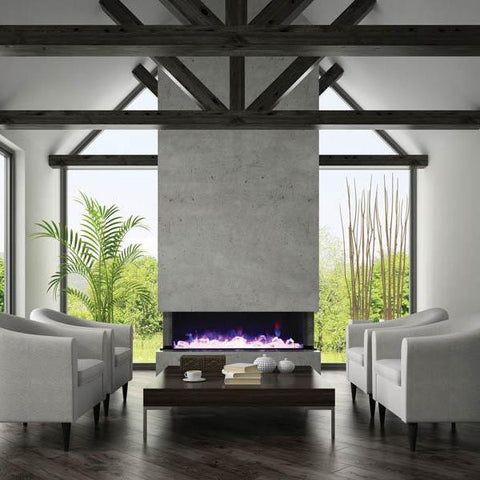 Amantii 3 Sided Electric Fire Indoor / Outdoor 152cm Sneddons
