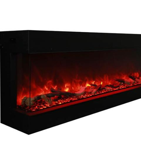 "Amantii Corner Electric Fireplace - Indoor or Outdoor 127cm (50"")"