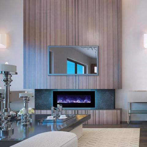 Amantii Electric Fireplace - Indoor or Outdoor - WM-FM-48-5823-BG