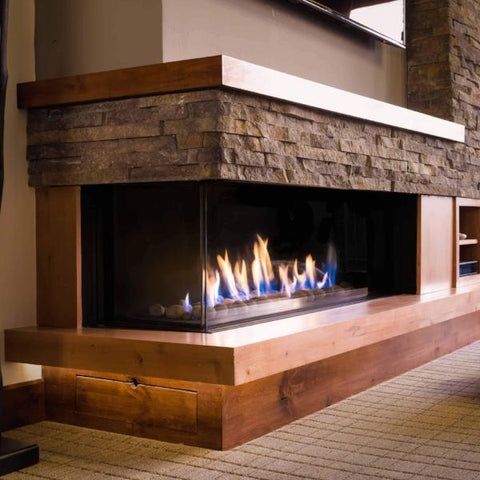 Ortal Corner Clear 130 Right/Left Side Gas Fireplace