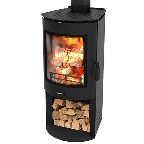 Masport ADENA Woodstacker - Steel Freestanding Radiant Wood Heater