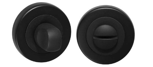 DELF ARCHITECTURAL PRIVACY ASSEMBLY ROUND ROSE - SATIN BLACK DBZ001B