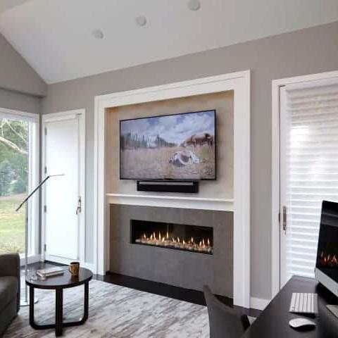 Ortal Front Facing Clear 130 Gas Fireplace