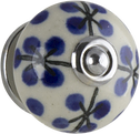 Tradco BLUE DOTS HAND PAINTED KNOB 40mm 7620