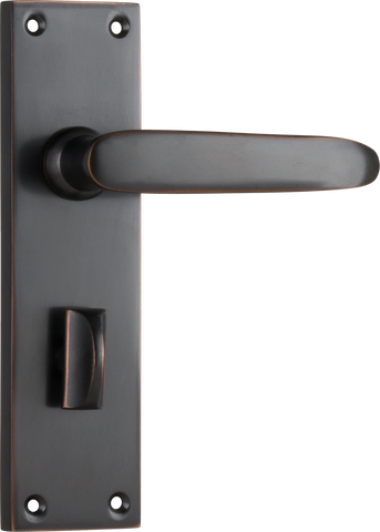 Tradco 'BALMORAL' LEVER PRIVACY Antique Copper 156mm x 42mm 0969P