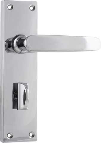 Tradco 'BALMORAL' LEVER PRIVACY Chrome 156mm x 42mm 0867P