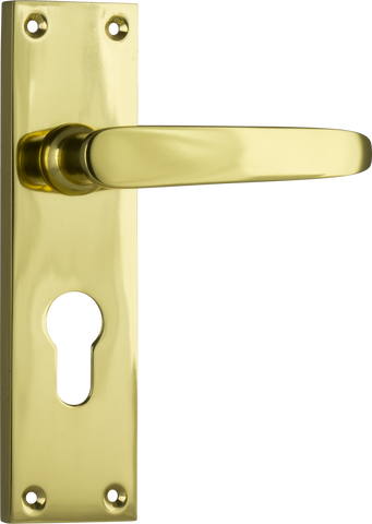 Tradco 'BALMORAL' LEVER EURO Polished Brass 156mm x 42mm 0967E