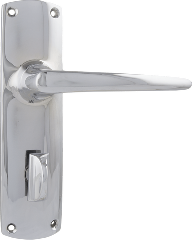 Tradco 'RETRO' LEVER PRIVACY Chrome 150mm x 40mm 0820P