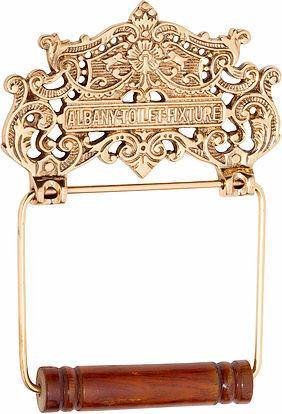 Tradco 'ALBANY TOILET ROLL HOLDER' Polished Brass 4880