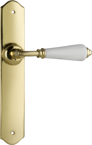 Tradco 'REIMS' LEVER LATCH Polished Brass 240mm x 40mm 0762