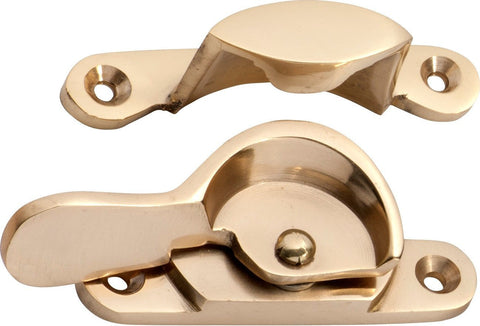 Tradco 'FITCH FASTENER NARROW' Polished Brass 1614 69mm x 17/15mm