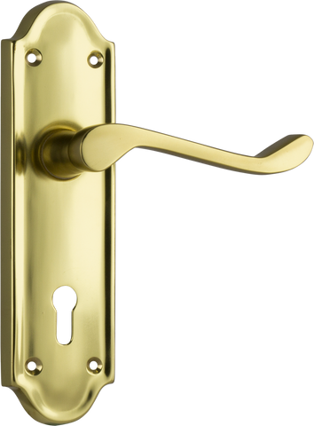 Tradco 'BEDFORD' LEVER LOCK Polished Brass 170mm x 46mm 1079
