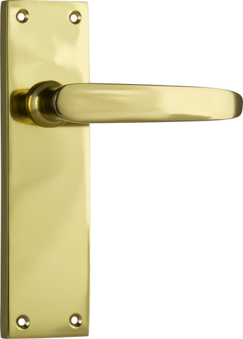 Tradco 'BALMORAL' LEVER LATCH Polished Brass 156mm x 42mm 0967
