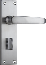 Tradco 'BALMORAL' LEVER PRIVACY Satin Chrome 156x42 0977P