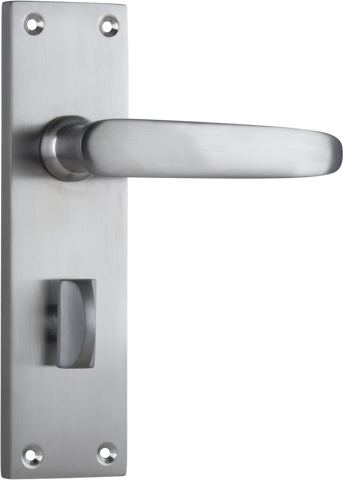Tradco 'BALMORAL' LEVER PRIVACY Satin Chrome 156mm x 42mm 0977P