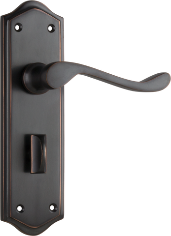 Tradco 'HENLEY' LEVER PRIVACY Antique Copper 180mm x 50mm 0920P
