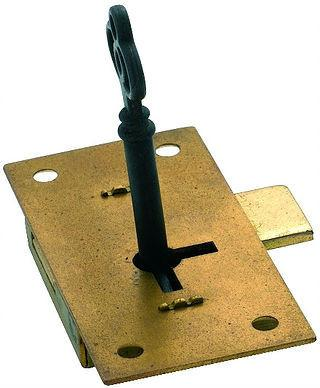 Tradco 'CUPBOARD LOCK' Brass 76 x 37mm 4003