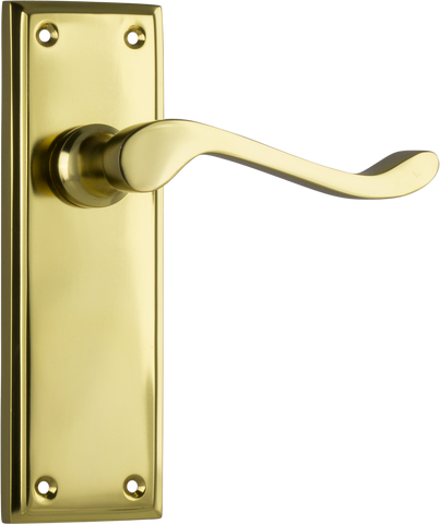 Tradco 'CAMDEN' LEVER LATCH Polished Brass 152mm x 50mm 1076
