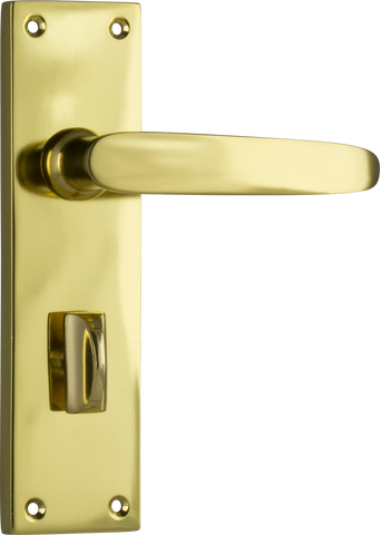 Tradco 'BALMORAL' LEVER PRIVACY Polished Brass 156mm x 42mm 0967P