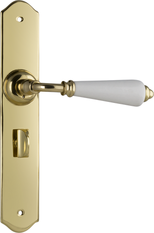 Tradco 'REIMS' LEVER PRIVACY Polished Brass 240mm x 40mm 0762P