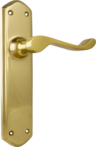 Tradco 'WINDSOR' LEVER LATCH Polished Brass 200mm x 45mm 1042