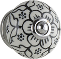 Tradco BLACK LEAF PATTERN KNOB 40mm 7619
