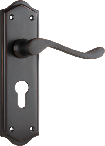Tradco 'HENLEY' LEVER EURO Antique Copper 180mm x 50mm 0920E