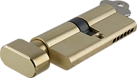 Tradco 'KEY/THUMB TURN' SOLID BRASS C4 6 PIN EURO CYLINDER Polished Brass 70mm 1881