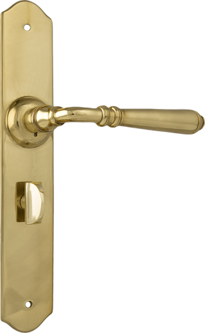 Tradco 'REIMS' LEVER PRIVACY Polished Brass 240mm x 40mm 0771P