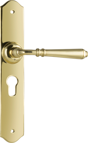 Tradco 'REIMS' LEVER EURO Polished Brass 240mm x 40mm 0771E