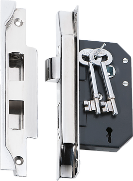 Tradco '3 LEVER REBATED LOCK' Chrome Plate 2214 44mm