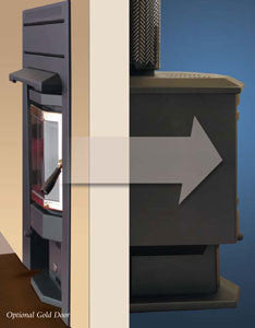 Eureka Duet Dual Door Freestanding/Through Wall Wood Heater