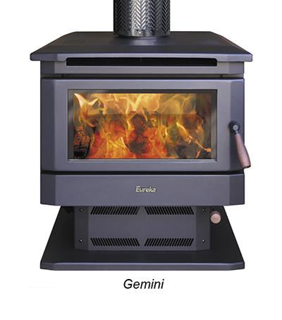 Eureka Gemini Dual Door Freestanding/Through Wall Wood Heater