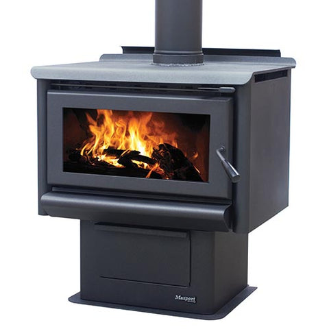 Masport REDBANK - Steel Freestanding Wood Heater inc Ashpan