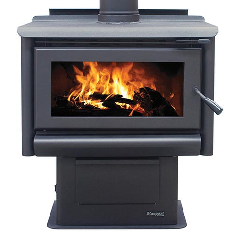 Masport REDWOOD - Steel Freestanding Wood Heater inc Ashpan