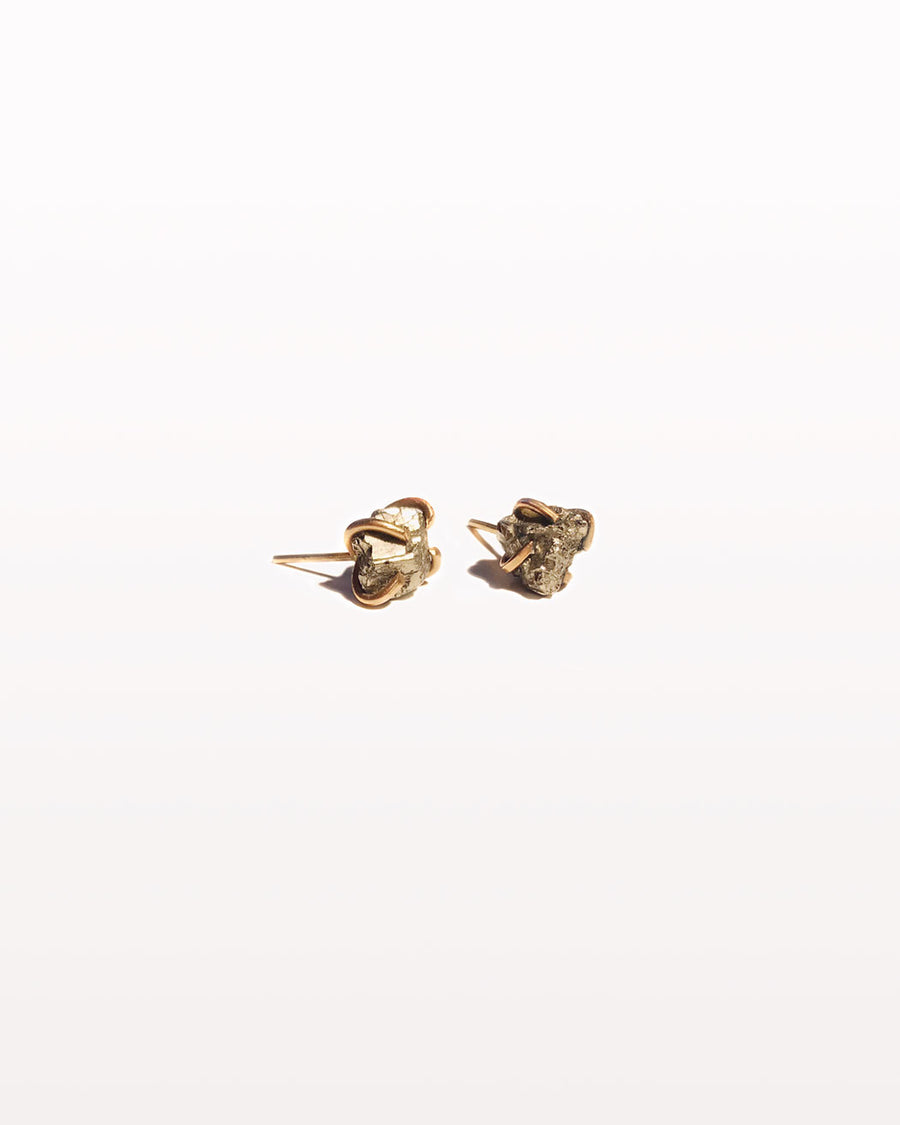 PYRITE POST EARRINGS