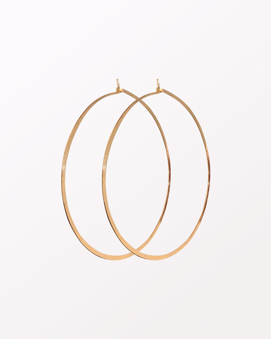 (OVERSIZED) HAMMERED HOOPS