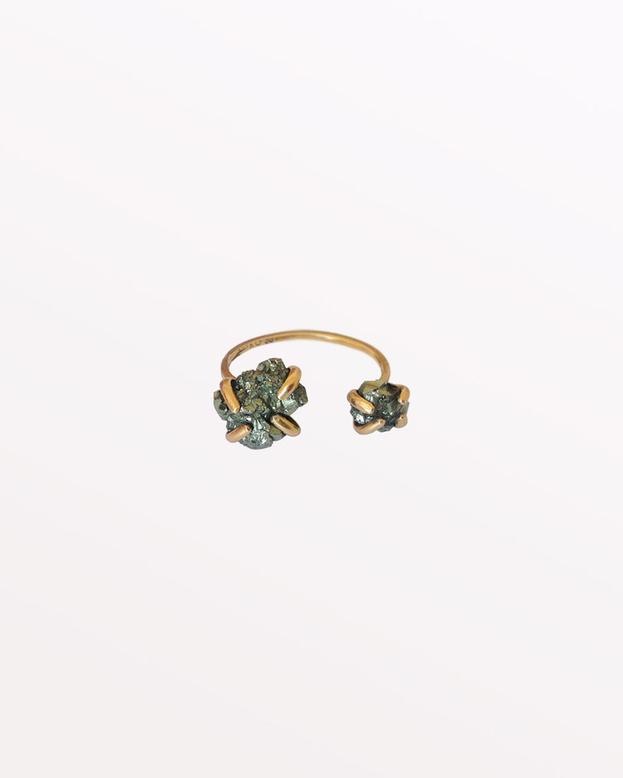 TWO MOONS RING - PYRITE