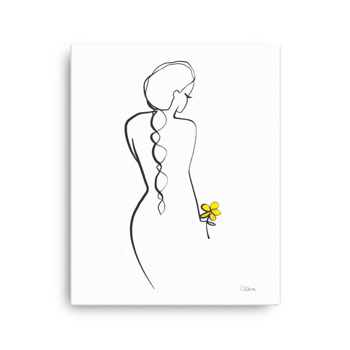 flower - Leinwand - JUDITH CLARA women drawn out of one line