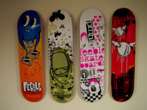 Digital printed skateboards utilize more complex graphics, with vibrant colors and intricate details.