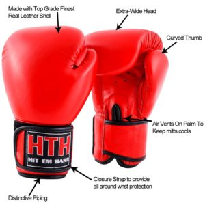 Boxing gloves made with top grain leather