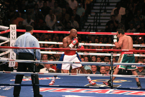 Floyd Mayweather Jr. uses Grant boxing gloves in the ring.