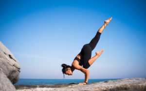 Yoga practice will greatly increase your balance and flexibility.