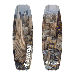 Custom City view promotional wakeboard zynga branded design your own