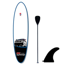 Load image into Gallery viewer, Custom Pepsi Max promotional paddle board with fin paddle branded